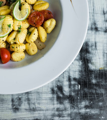 Gnocchi on a plate