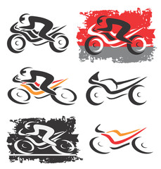 Motorbike motorcycle icons