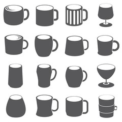 glasses and cup icons