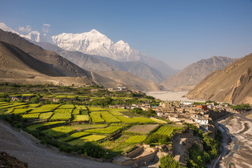 Photo sur Aluminium Népal The village of Kagbeni, Upper Mustang, Nepal