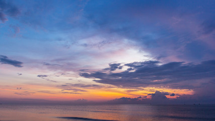 Twilight time at beach
