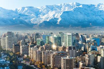 Santiago white cityscape
