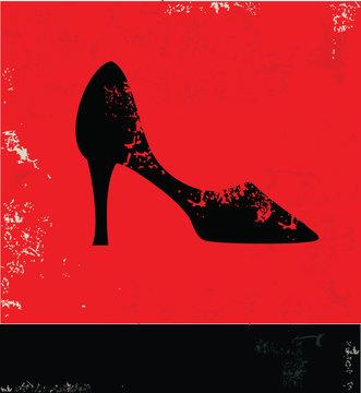 Shoe symbol,vector