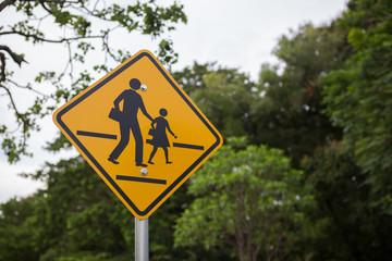 school area sign