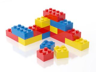 Plastic Brick Wall Toy Illustration Isolated on White Background