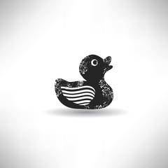 Duck,grunge vector