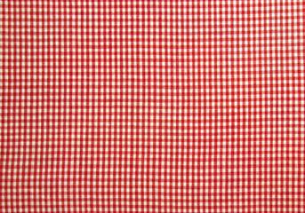 Weiß und rot karierter Hintergrund als Textur