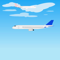 Airplanes flying
