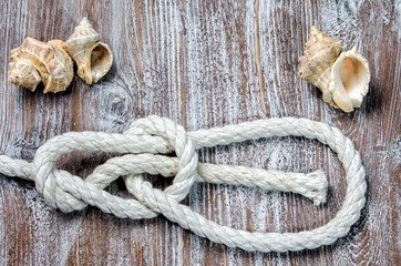marine rope tied knot Bowline