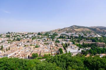 Albayzin district, view from the Palacio de la Alhambra in Grana