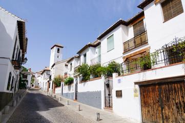 Albayzin district in Granada, Spain
