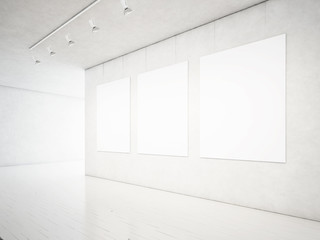 white gallery interior