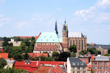Fototapete - Erfurt Altstadt mit Erfurter Dom