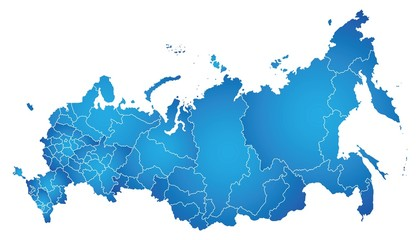 Map of Russian Federation