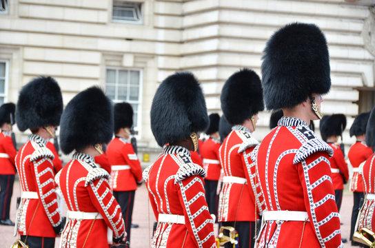 LONDON, UK – JUNE 12, 2014: British Royal guards perform the C