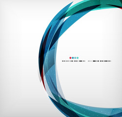Blue ring - business abstract bubble
