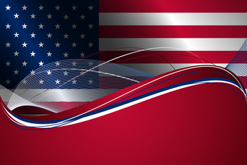 Abstract background with USA flag