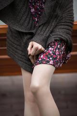 Graceful beautiful female legs