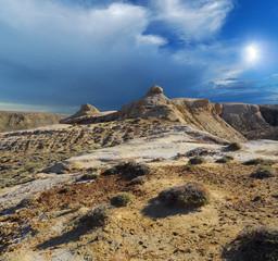 cliffs of the mountains Shalkar-Nura
