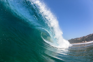 Ocean Wave Swimming Inside Blue