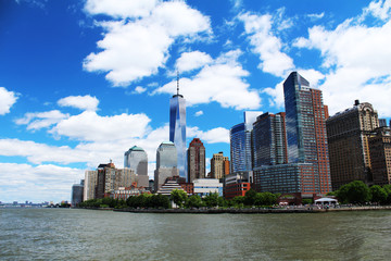Freedom Tower in city