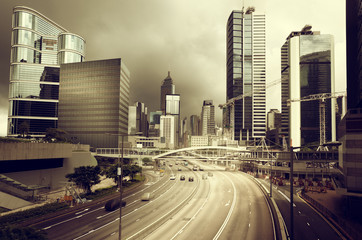 Foto op Aluminium Hong-Kong traffic in Hong Kong