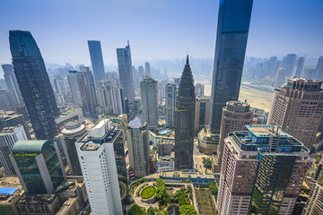 Chongqing, China downtown Cityscape