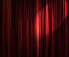 Red Theater Curtain Spotlight Backdrop