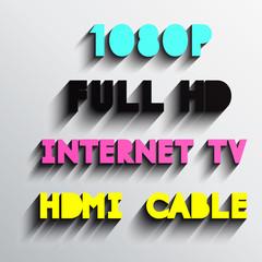 Set of internet tv typo vector, Eps 10