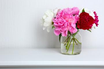 Beautiful flowers in interior design