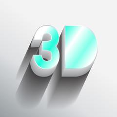 """3D"" typo vector,Eps 10"