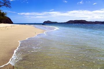 Beautiful wild beach ashore the Pacific ocean