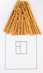 Beautiful still life composition with sweet bread sticks. Food