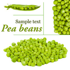 pile of pea beans