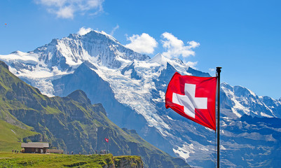Swiss flag Wall mural
