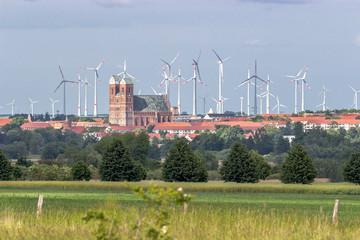 Prenzlau mit Windpark