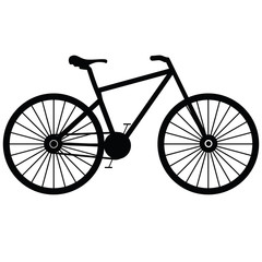 Bicycle on a white