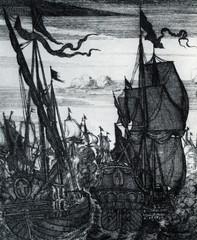 Naval battle, from Buccaneers of America