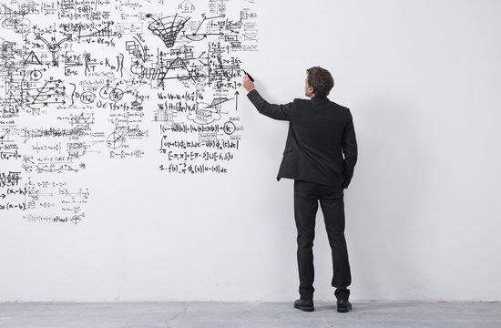 Creative entrepreneur sketching ideas