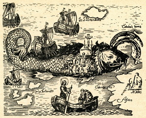 Saint Brendan and the whale