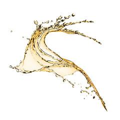 Liquid splash over white background