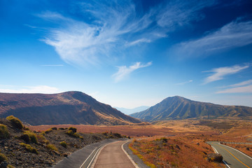Road to Mount Aso