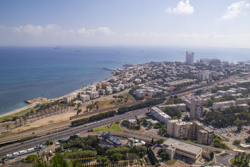 City of Haifa in Israel in the morning