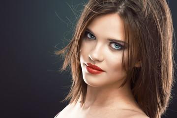 Face portrait of beautiful woman.