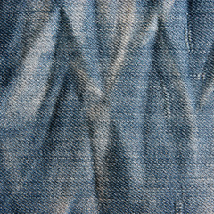 Vintage jeans texture with scuffed.
