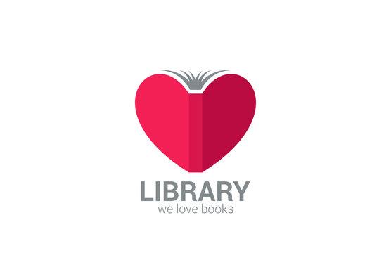 Book Store vector logo design. Creative library concept