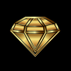 Gold diamond image. Concept of luxury, wealth, power