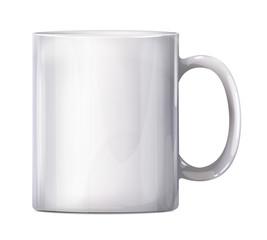 Isolated Vector Realistic White Big Mug