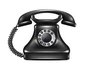 Isolated Realistic Vector Retro Telephone