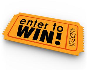 Enter to Win Raffle Ticket Winner Lottery Jackpot